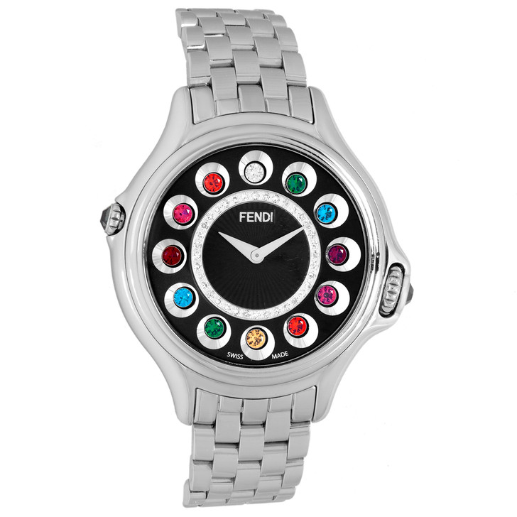 Fendi Stainless Steel 33mm Crazy Carats Watch 10500L