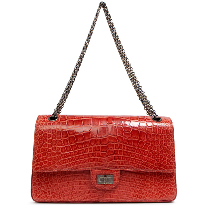 Chanel  Red Alligator Reissue 2.55 Double Flap 226