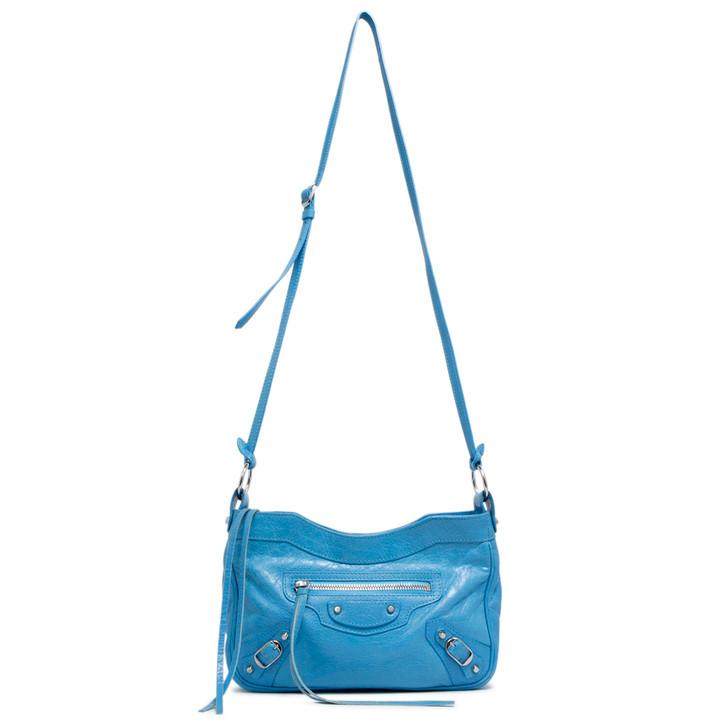 Balenciaga Bleu Azur Clair Lambskin Hip Crossbody