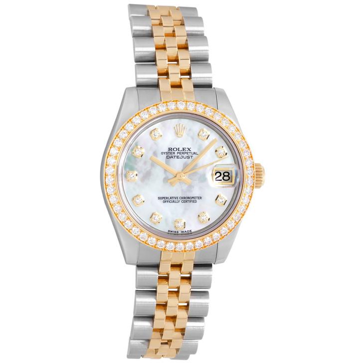 Rolex 18K Yellow Gold, Stainless Steel & Diamond Datejust 31 178383