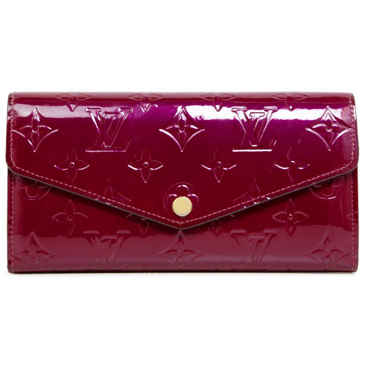Louis Vuitton Magenta Vernis Sarah Wallet NM