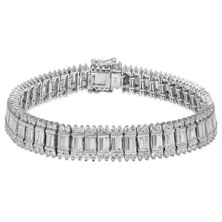 18K White Gold Channel Diamond Bracelet