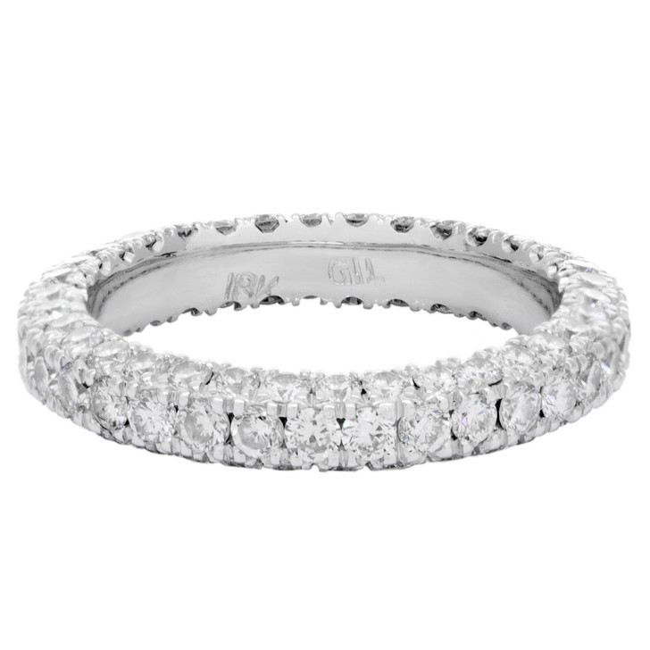 18K White Gold 1.62 Carat Diamond Eternity Ring