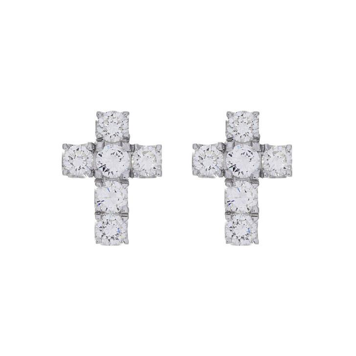 14K White Gold 2.50 Carat Diamond Earrings