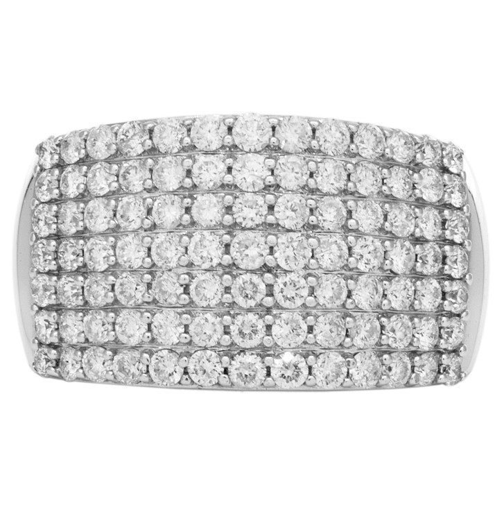 18K White Gold 1.46 Carat Pave Diamond Ring