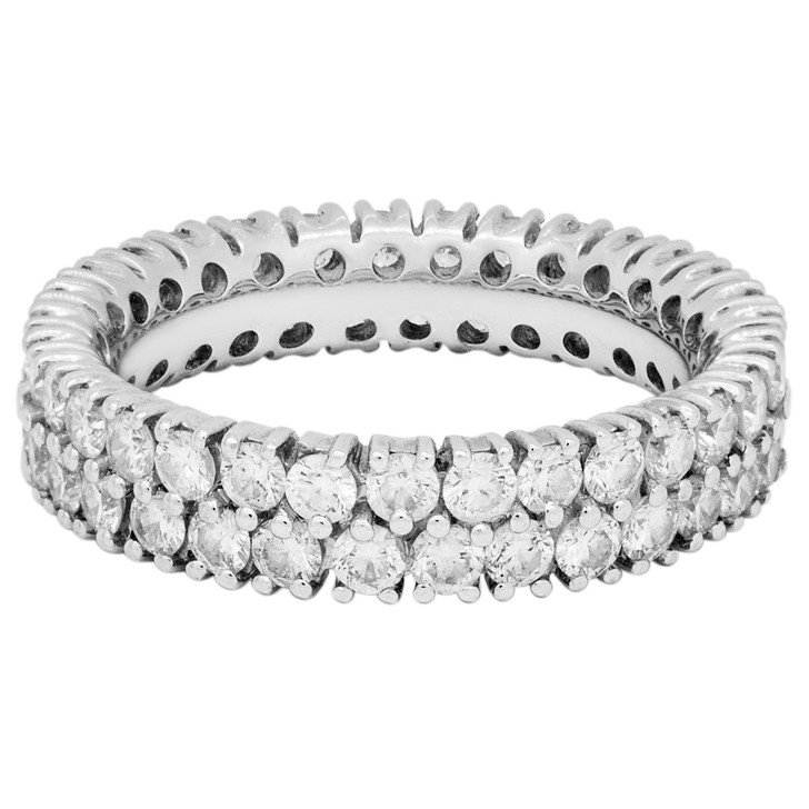18K White Gold 1.58 Carat Diamond Eternity Ring
