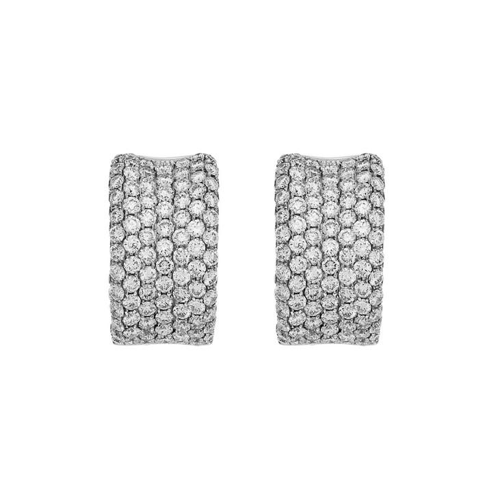 18K White Gold 2.58 Carat Diamond Earrings