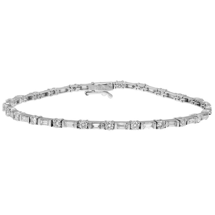 18K White Gold 2.71 Carat Diamond Bracelet