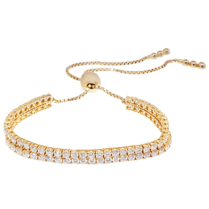14K Gold 4.26 Carat Diamond Bracelet
