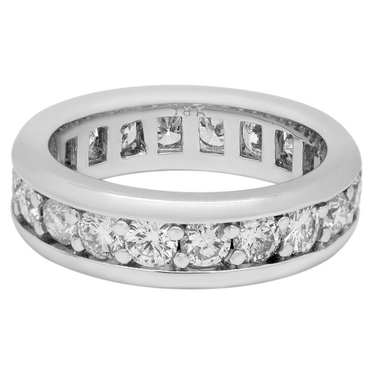 18K White Gold 2.10 Carat Diamond Eternity Ring