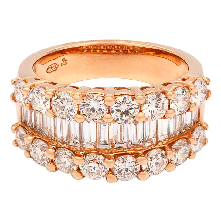 18K Rose Gold 2.72 Carat Diamond Ring