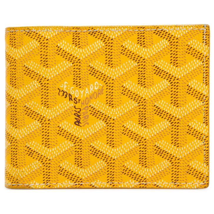 Goyard Yellow Goyardine Bifold Victoire Wallet