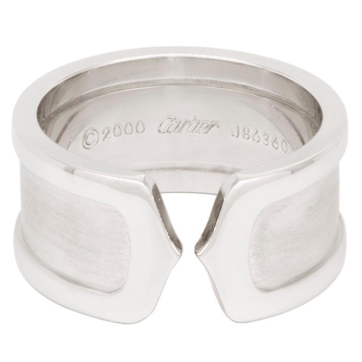Cartier 18K White Gold 10mm C de Cartier Ring