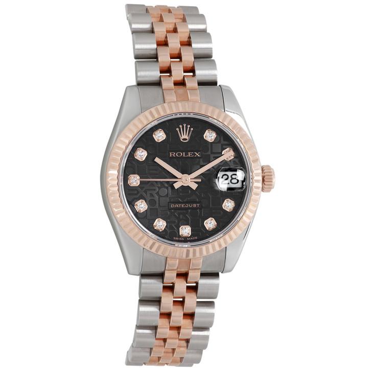 Rolex 18K Everose Gold & Diamond Dial Datejust 31  178271