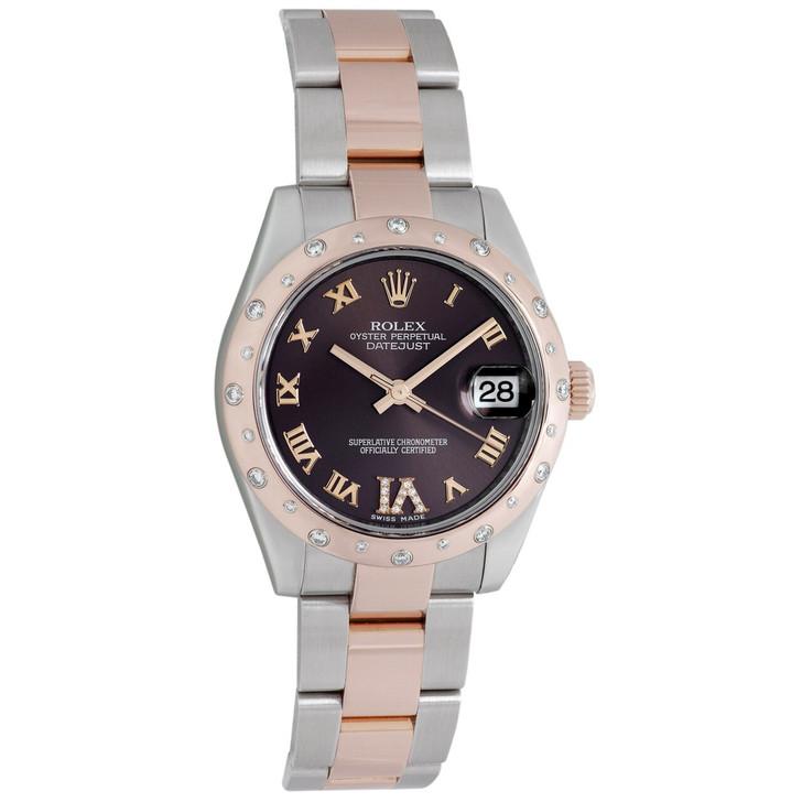 Rolex 18K Everose Gold & Diamond Datejust  31 178341