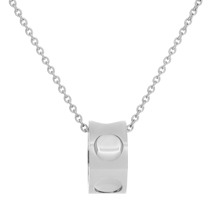 Louis Vuitton 18K White Gold Large Empreinte Pendant Necklace
