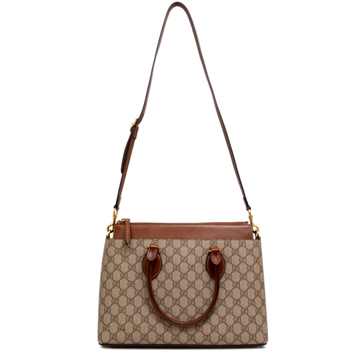 Gucci Brown GG Supreme Monogram Small Tote