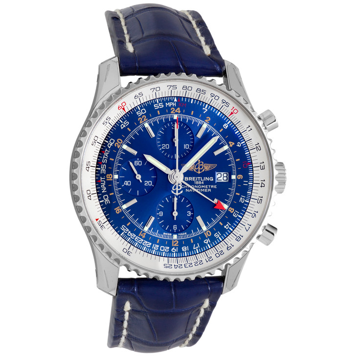 Breitling Stainless Steel Navitimer World Chronograph A2432212-C651