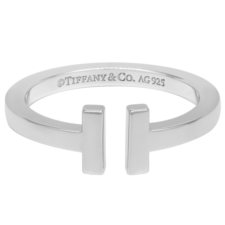 Tiffany & Co.  Sterling Silver T Square Ring