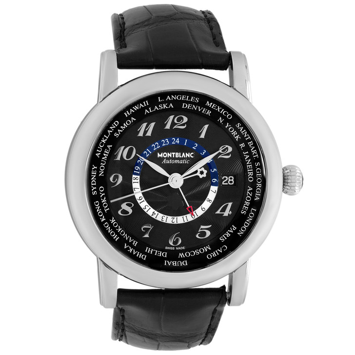 Montblanc Stainless Steel Star World Time GMT 106464