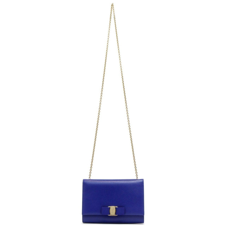 Salvatore Ferragamo Blue Mini Ginny Crossbody