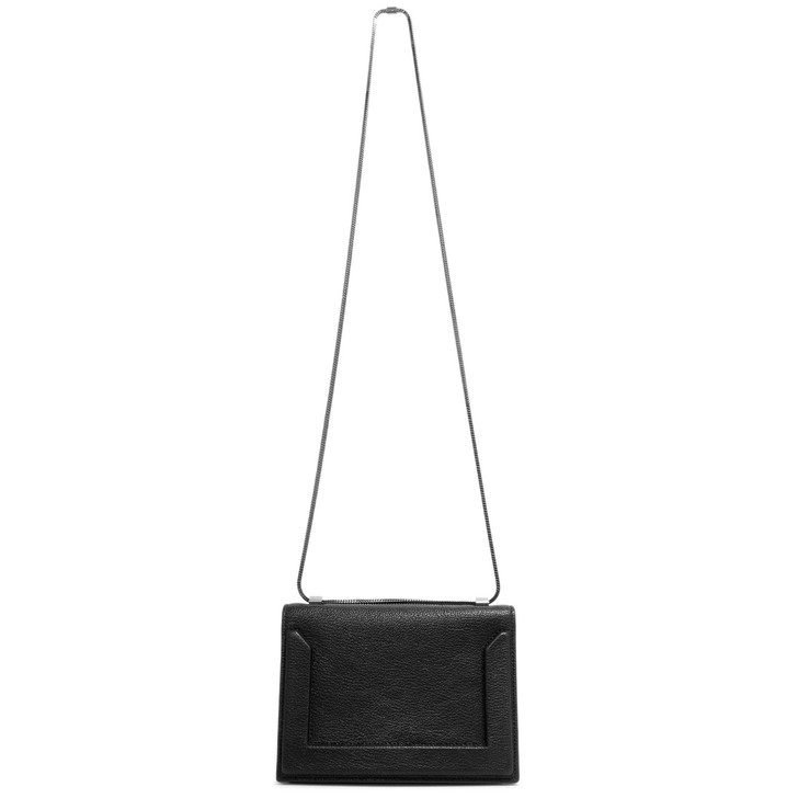 3.1 Phillip Lim Black Calfskin Mini Soleil Chain Shoulder  Bag