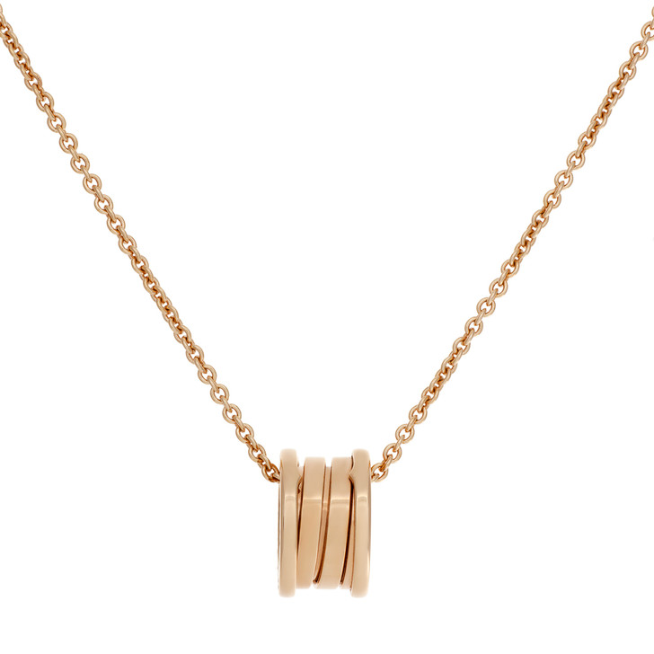 Bvlgari 18K Rose Gold B.Zero1   Pendant  Necklace