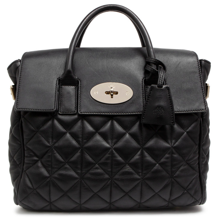 Mulberry Black Quilted Nappa Cara Delevingne Bag