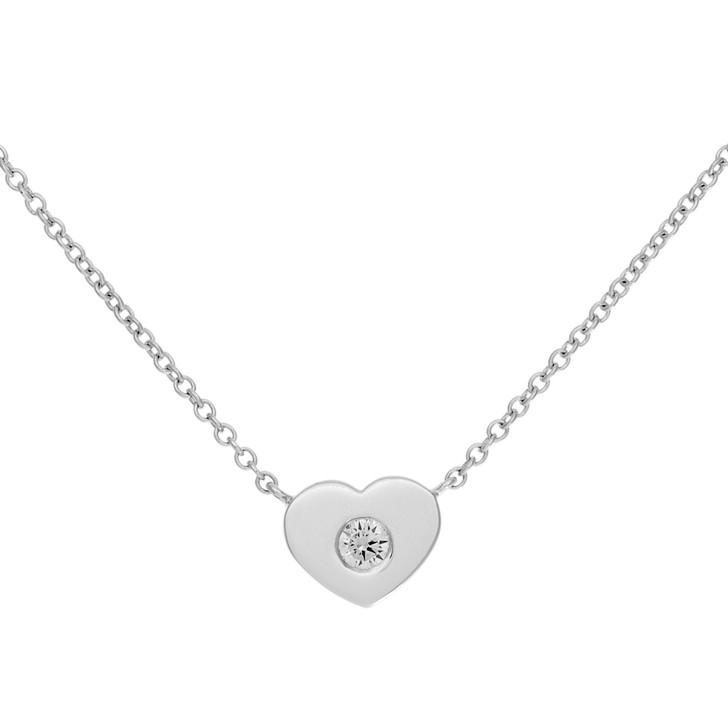 Tiffany & Co. Sterling Silver Paloma Picasso Modern Diamond Heart Pendant