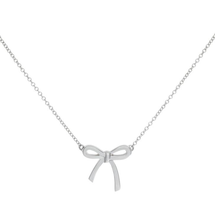 Tiffany & Co. Sterling Silver Mini Bow  Pendant