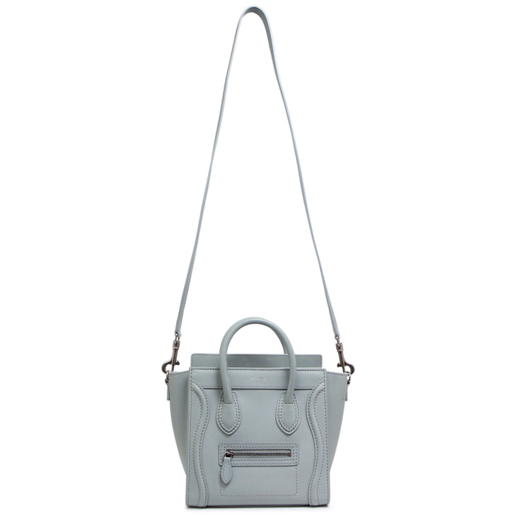 Celine Grey Smooth Calfskin Nano Luggage Tote