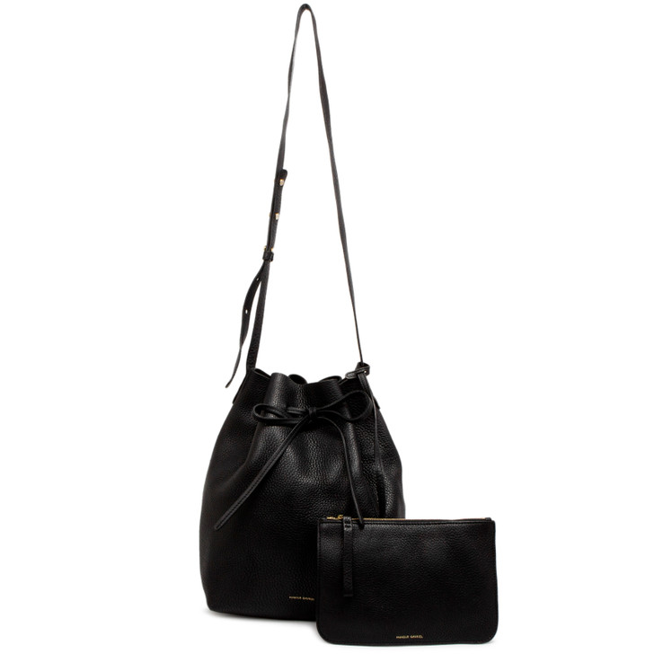 Mansur Gavriel Black Tumbled Calfskin Bucket Bag