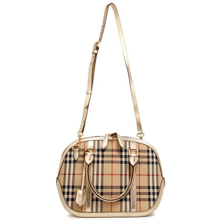 Burberry Horseferry Check Small Orchard Bowling Bag