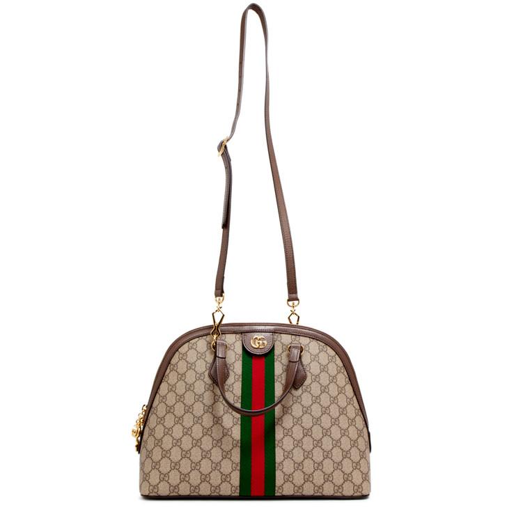 Gucci GG Supreme Monogram Medium Ophidia Top Handle Bag