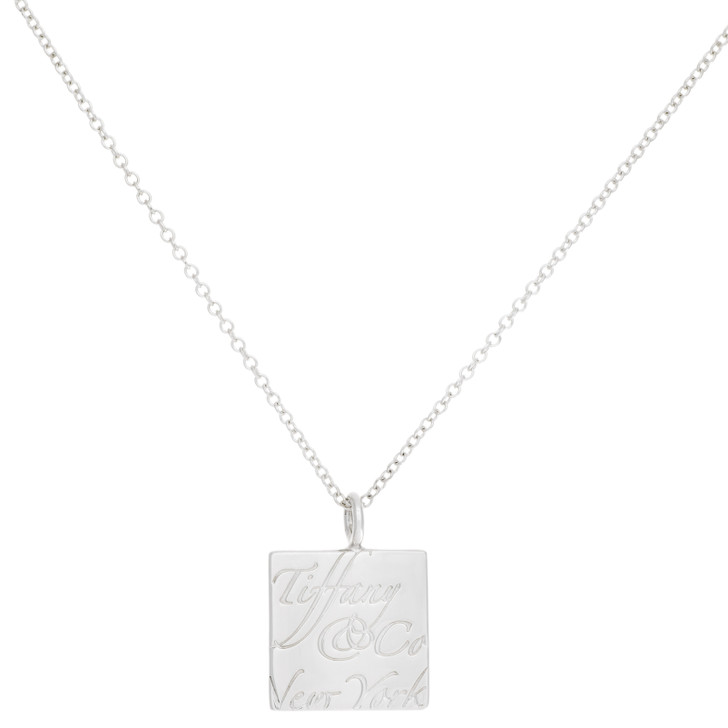 Tiffany & Co. Sterling Silver Square Notes Pendant