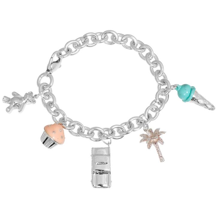 Tiffany & Co. Sterling Silver Enamel Charms Bracelet