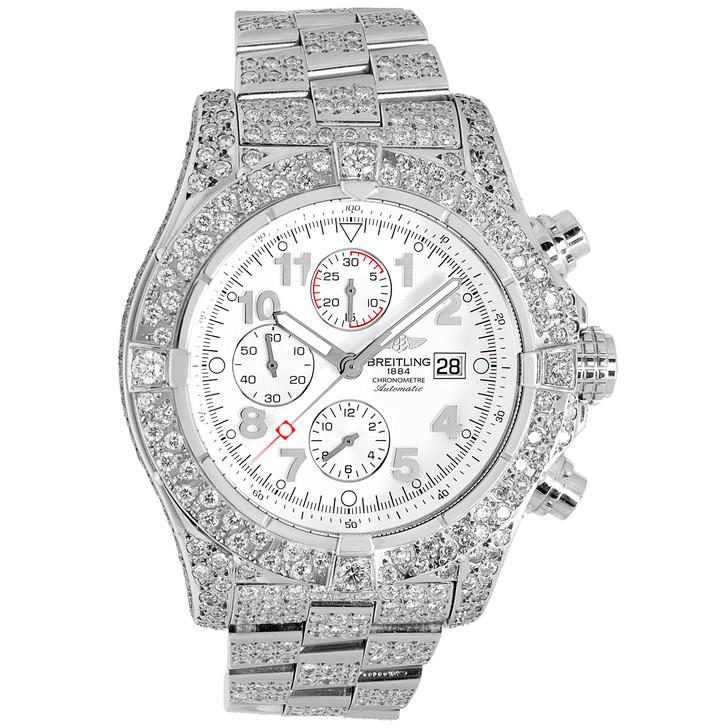 Breitling 11.75 Carat Diamond Super Avenger Chronograph A13370