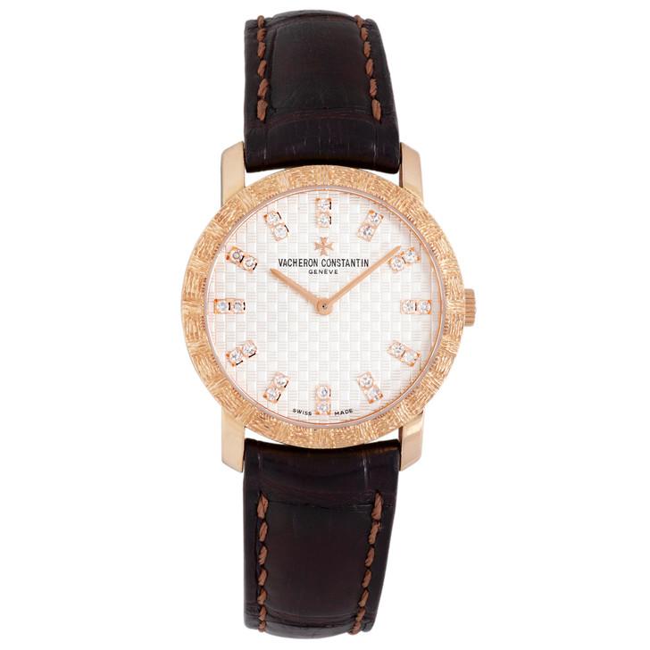 Vacheron Constantin 18K Pink Gold Quartz Patrimony Classique 25163/000R