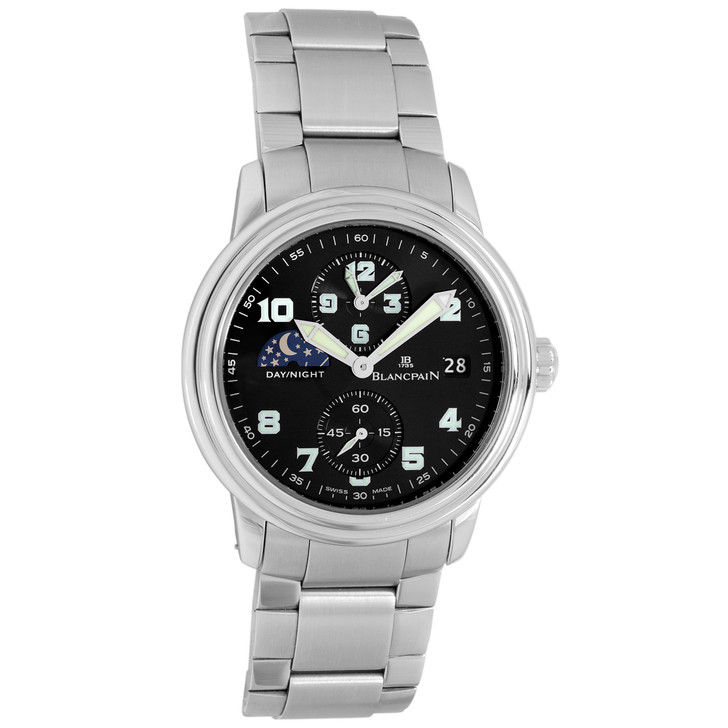 Blancpain Stainless Steel Leman Double Time Zone 2160-1130M-71