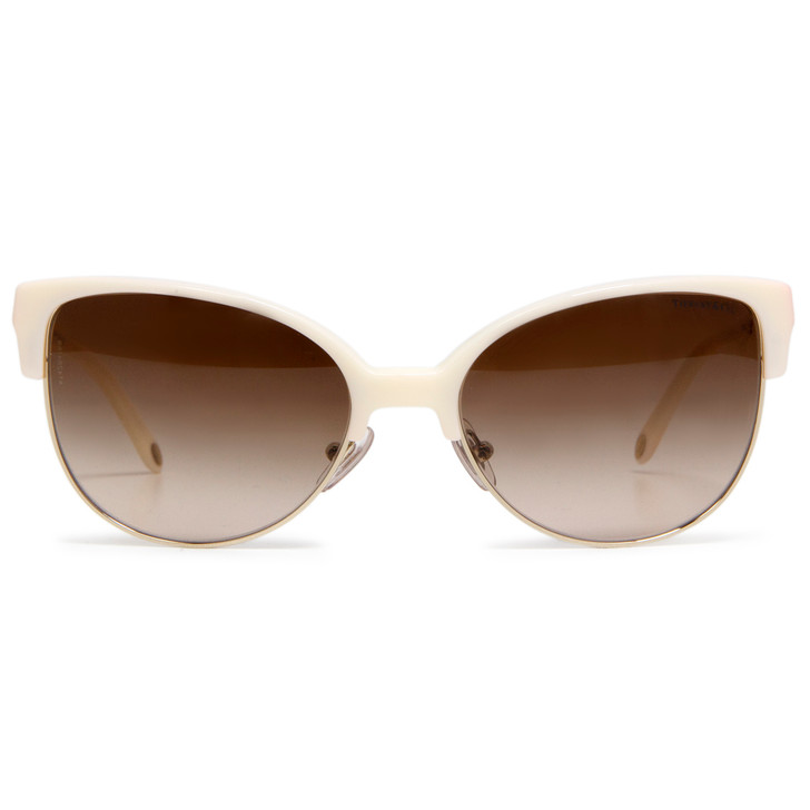Tiffany TF4080 Ivory Cat Eye Sunglasses