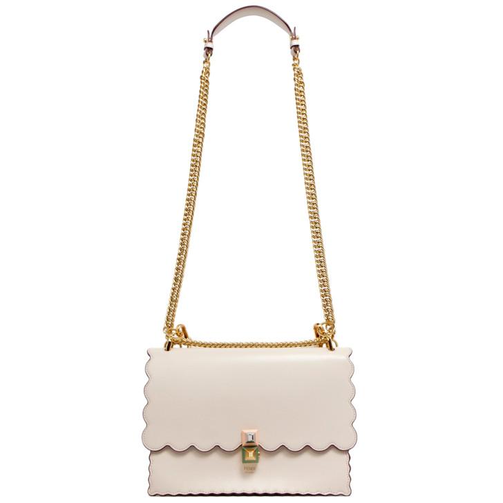 Fendi Camelia Calfskin Kan I Shoulder Bag