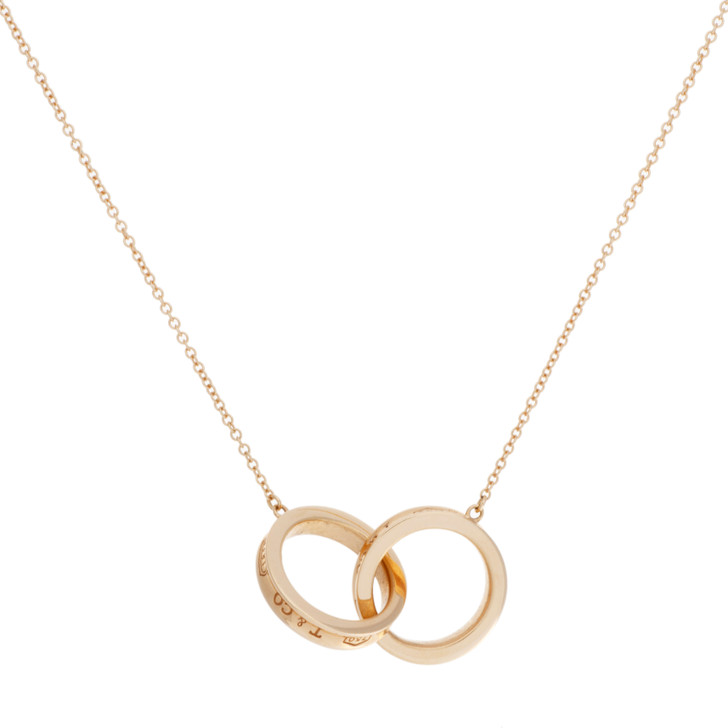 Tiffany & Co. 18K Rose Gold 1837 Interlocking Circles Pendant