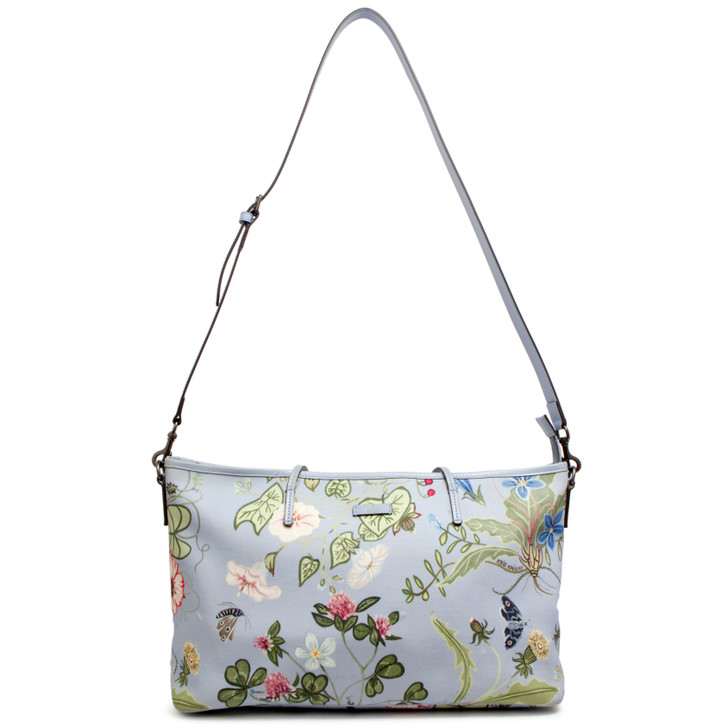 Gucci Blue Coated Canvas Flora Knight Tote