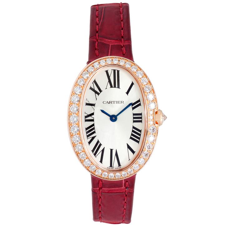 Cartier 18K Pink Gold & Diamond Small Baignoire Watch