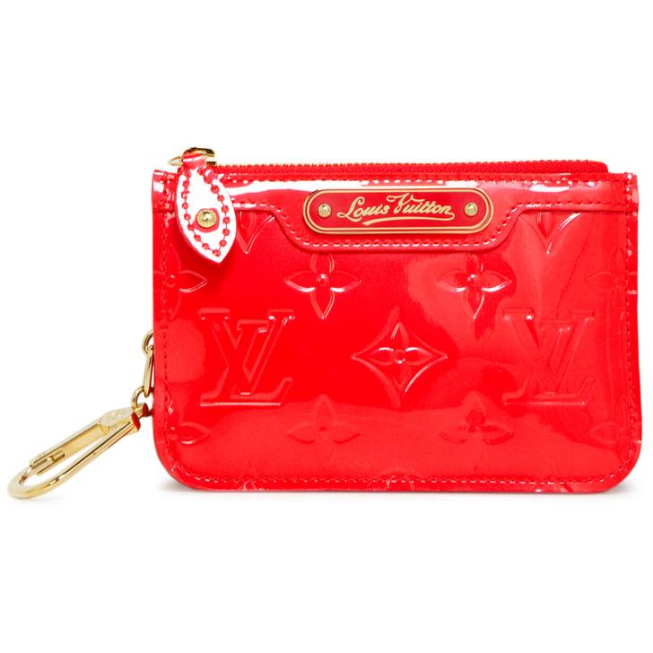 Louis Vuitton Rouge Grenadine Vernis Key Pouch