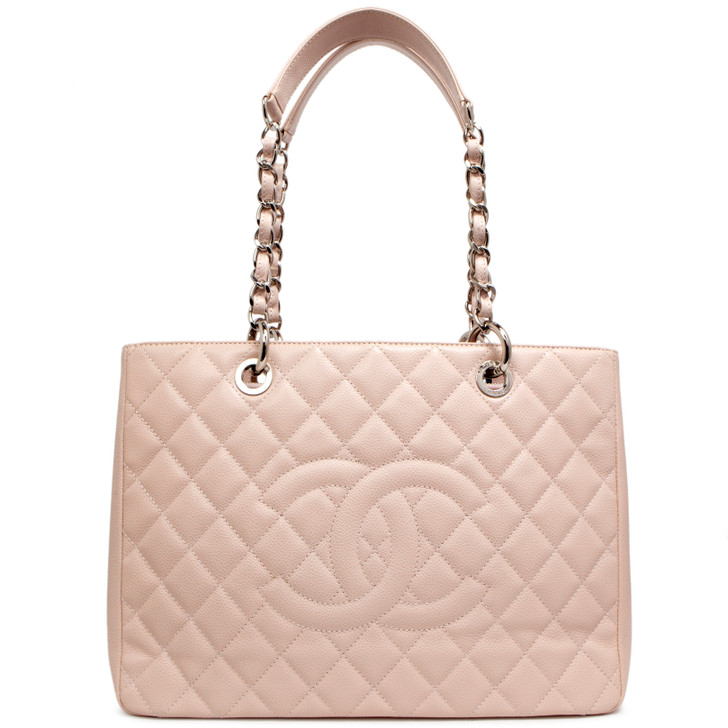 Chanel Pink Caviar Grand Shopping Tote GST