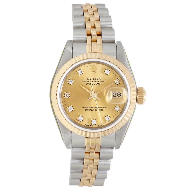 Rolex 18K & Stainless Steel  Diamond Ladies Datejust 69173