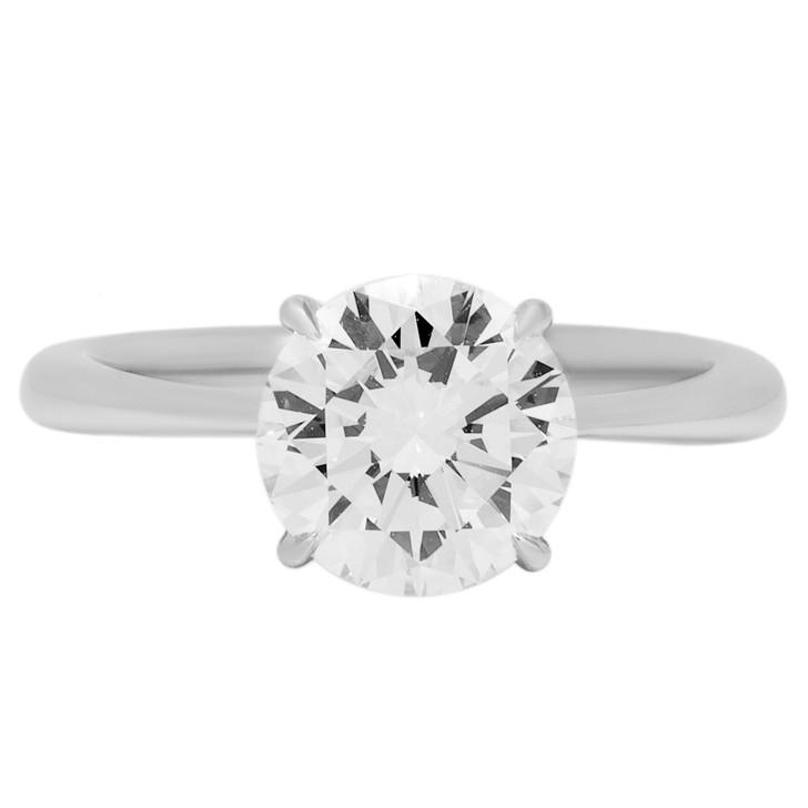 Platinum 1.43 Carat Diamond Solitaire Ring