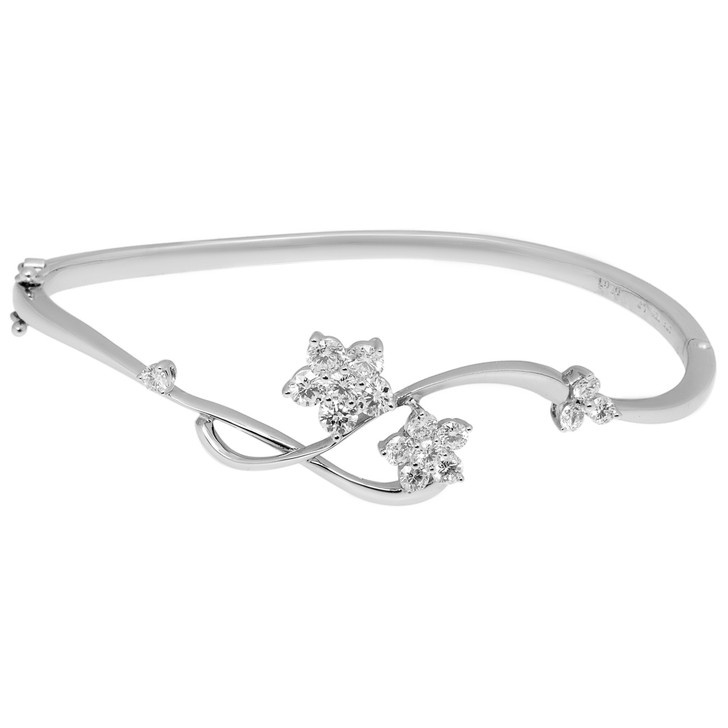 18K White Gold 1.07 Carat Diamond Bracelet