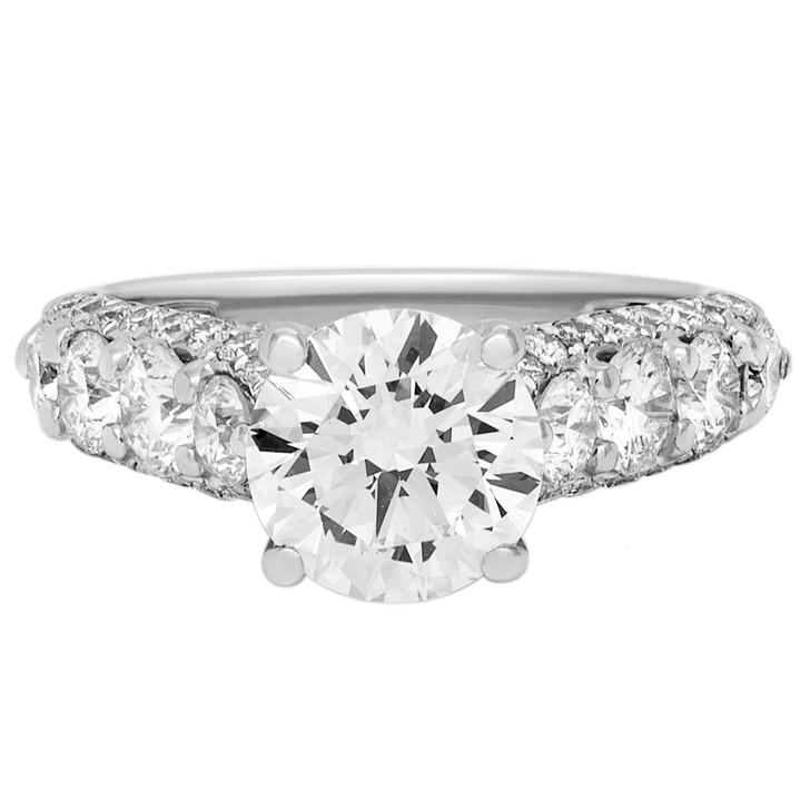 18K White Gold 1.56 Carat Diamond Ring